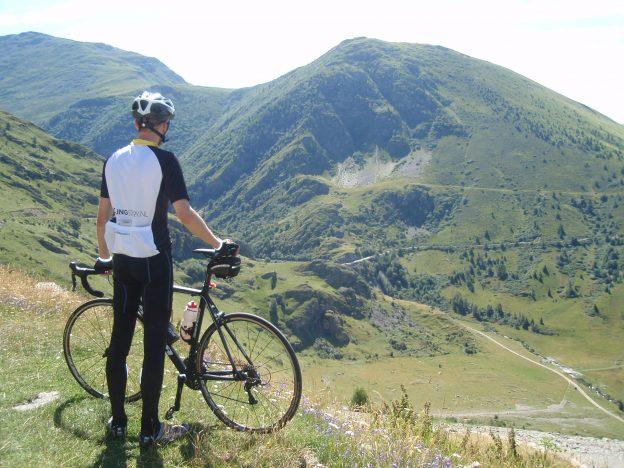 uitzicht klim naar col de Sarenne
