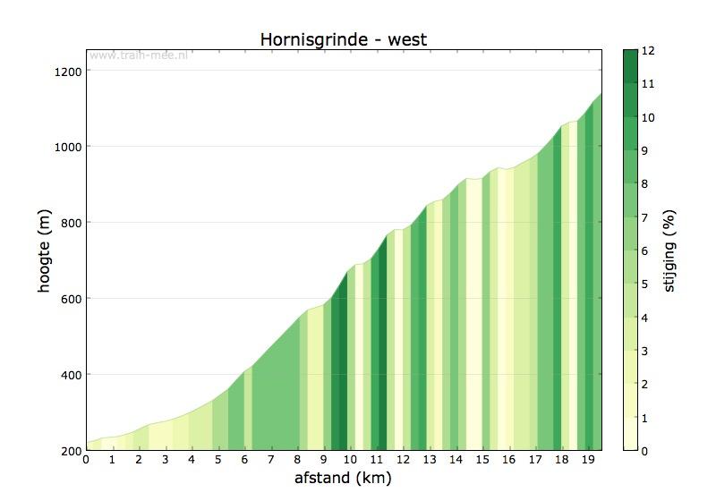 Hoogteprofiel Hornisgrinde (west)
