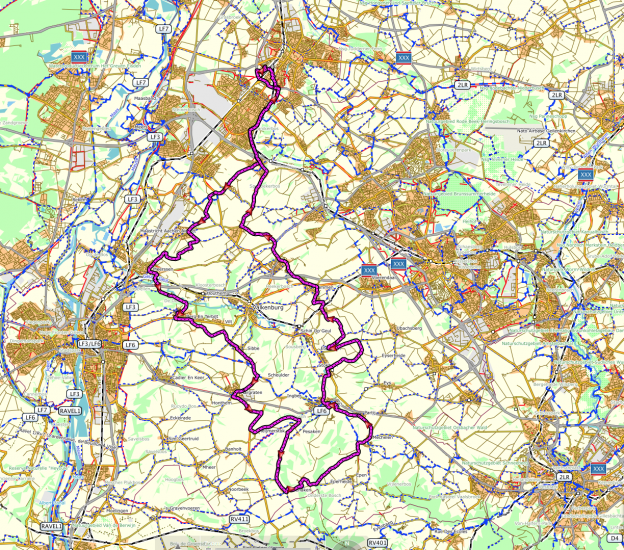Route van deze toch op de kaart