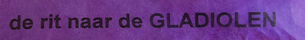 rit naar de gladiolen